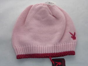 BRAND-NEW-PLAYBOY-OFFICIAL-PINK-BEANIE-HAT-ONE-SIZE