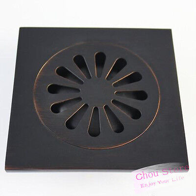 Oil Rubbed Bronze Square Shower Drain Floor Waste Grate D15 For Sale