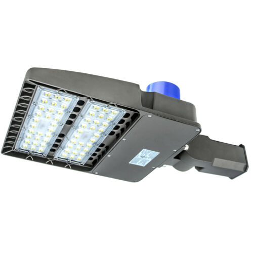 LED Parking Lot Light Shoebox 200W 300W Area Outdoor Pole Light Fixture 5500K