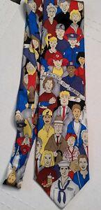 Vintage Silk Tie Proud to Serve Moose International USA
