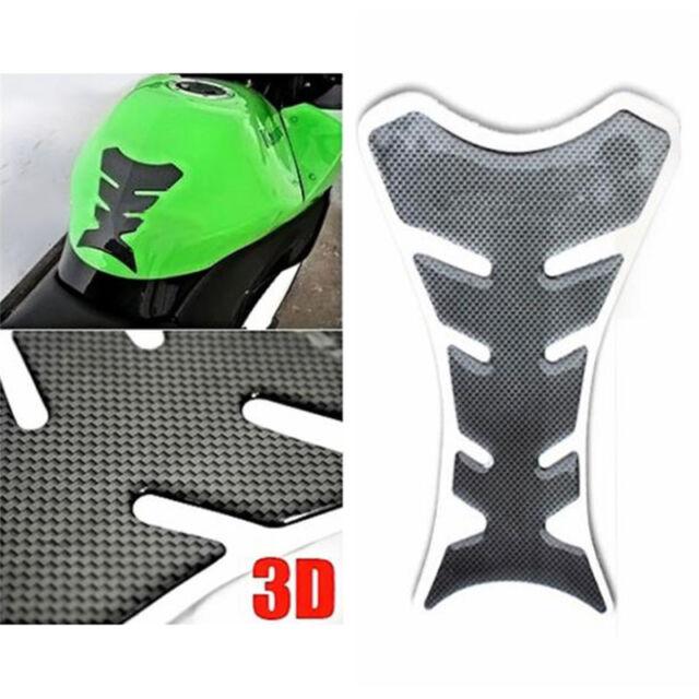 3D Carbon Fiber Motorcycle Oil Gas Fuel Tank Protector Fit Gel Pad Sticker·CRIT