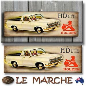 HOLDEN-GM-034-HD-Ute-034-Wooden-Rustic-Plaque-Sign-FREE-POST