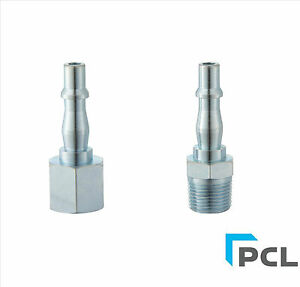 5 X PCL MALE ADAPTOR  1//4 BSP AIRLINE HOSE AIR TOOL CONNECTOR FITTING GARAGE