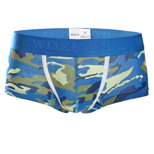 Men/'s Camo Underwear Jumpsuit T-shirt Top Boxers Briefs G-Strings Thongs Panties