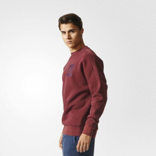 S98763 Adidas Rond shirt Marron Pull Hommes Col Sweat Snow Id washed Polaire vxF84rvwq