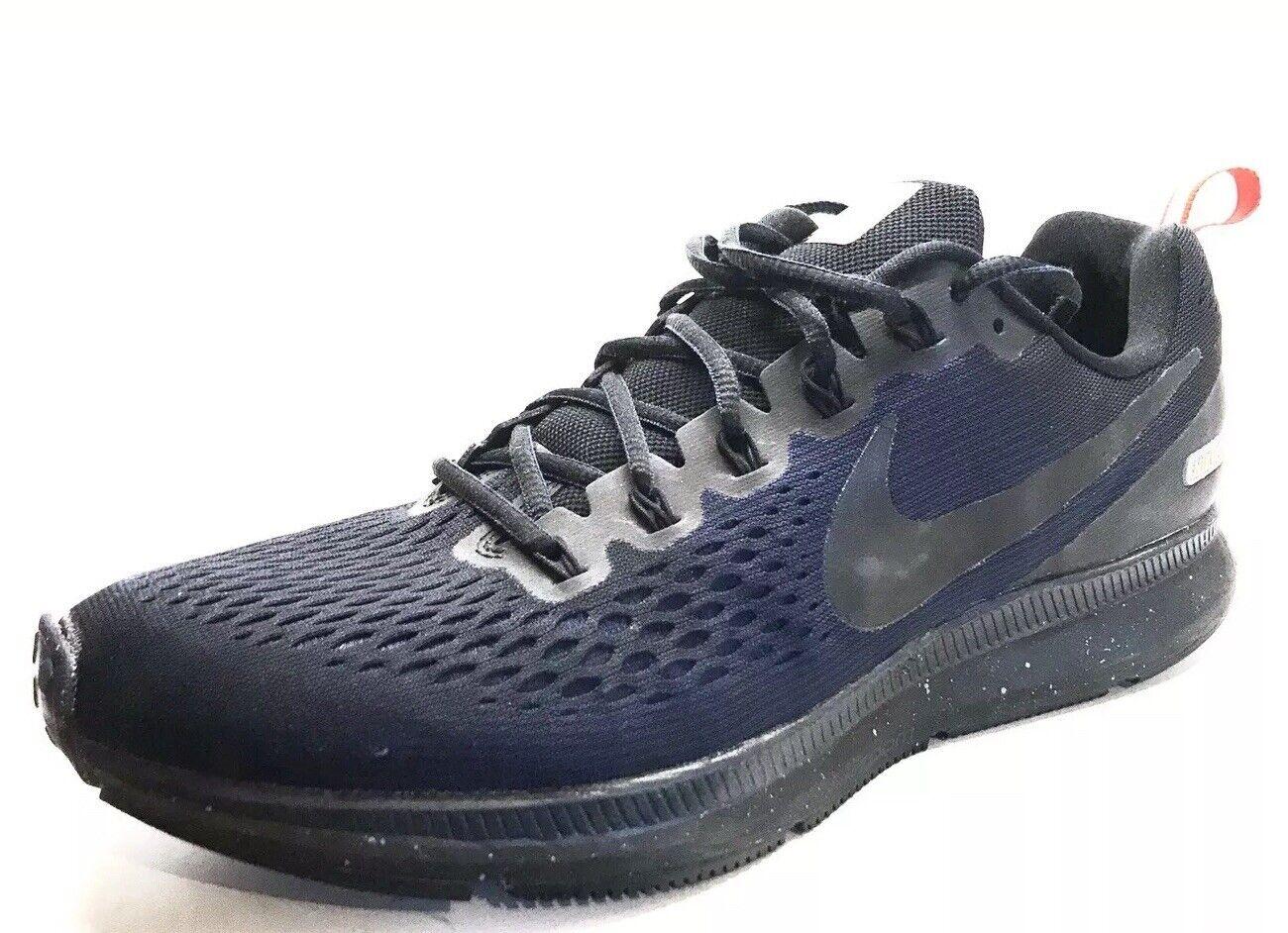 Sz. 11.5 NIKE Air Zoom PEGASUS 34 Shield EXCELLENT Black Obsidian Running shoes