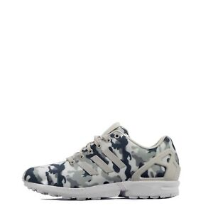 separation shoes 8070f 2669a Details about adidas Originals ZX Flux Camo Men's Low Top Shoes White/Pearl  Grey