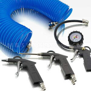 BITUXX-4tlg-Druckluft-Set-fuer-Kompressor-Schlauch-Reifendruck-Ausblaspistolen