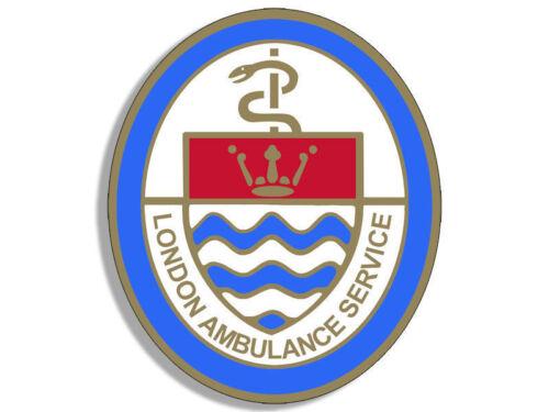 "4/"" vintage london ambulance service crest logo sticker decal uk"