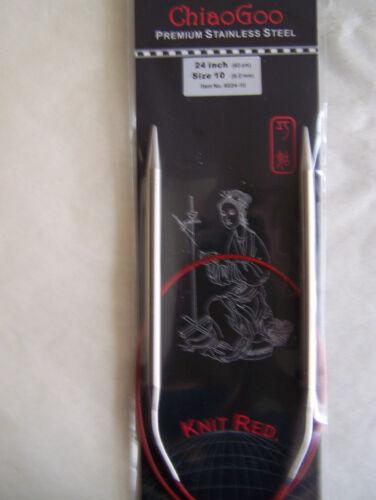 "ChiaoGoo Red Circular Knitting Needles 24/"" choice//size"