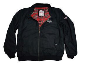 Lonsdale-Heavy-Winter-Harrington-Jacket-Black-Melton-England-Style-Slim-Fit-Wool