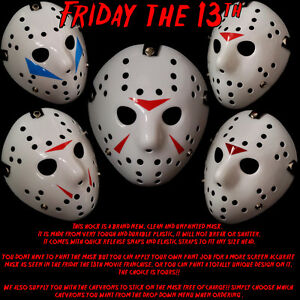 jason voorhees hockey mask movie prop halloween friday 13th game ps4