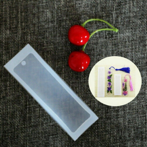 Bookmark Epoxy Resin 2x Jewelry Mold  Making Craft Mould Rectangle Silicone DIY