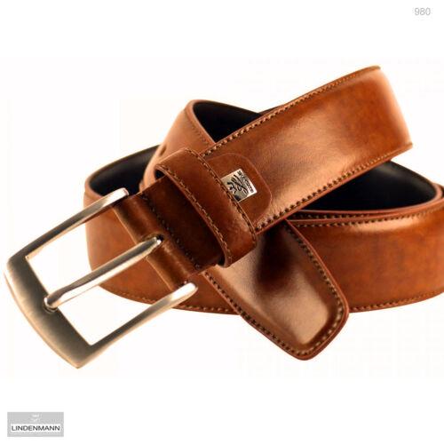 LINDENMANN Herrengürtel bis 120 cm Bundweite 3,5 cm breit Rindleder kürzbar  980