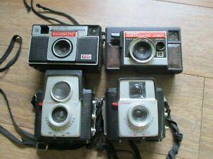 Lot 4~ Vintage Cameras BROWNIE STARLET Starflex KODAK Instamatic X-34F Magimatic