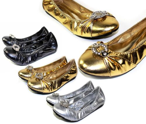 AGATHA-02 New Synthetic Diamond Slip On Casual Party Women/'s Flats Office Shoes