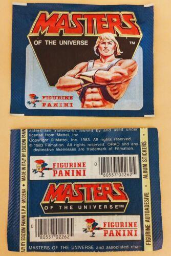 1983 Maîtres de l/'univers Autocollant Album pack PANINI Mattel rare single pack non ouverts//sealed