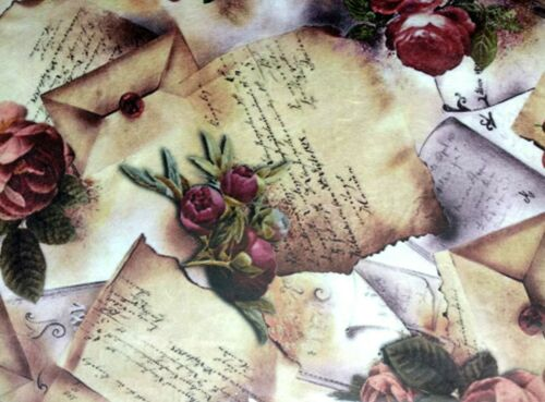 Scrapbooking Rice Paper for Decoupage Sheet Craft Vintage Roses Picture 1