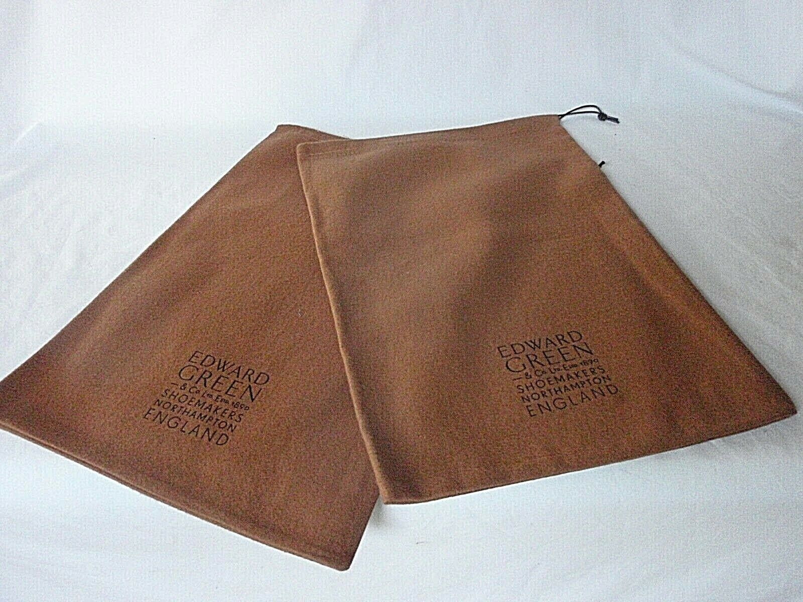 NEW. EDWARD GREEN Shoemaker Brown Cotton Boot Dustbags Sleeper Bags. 1 pair