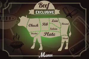 Beef-Buey-Exclusivo-Menu-Letrero-de-Metal-Arqueado-Tin-Sign-20-X-30CM
