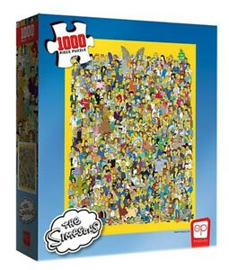 Usaopoly-Collector-039-s-Puzzle-The-Simpsons-Cast-1000-pc-Jigsaw-Puzzle