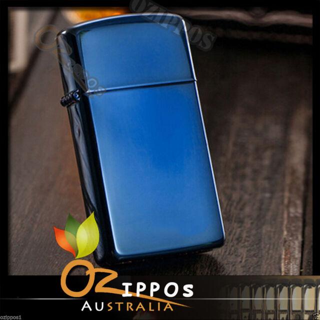 "Zippo ""Sapphire Blue"" Slim Size Lighter 20494 --- Free Shipping in Australia"