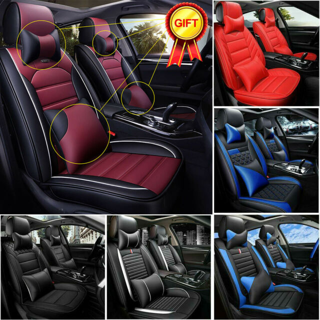 2 BLACK FRONT CAR SEAT COVERS WITH BARS