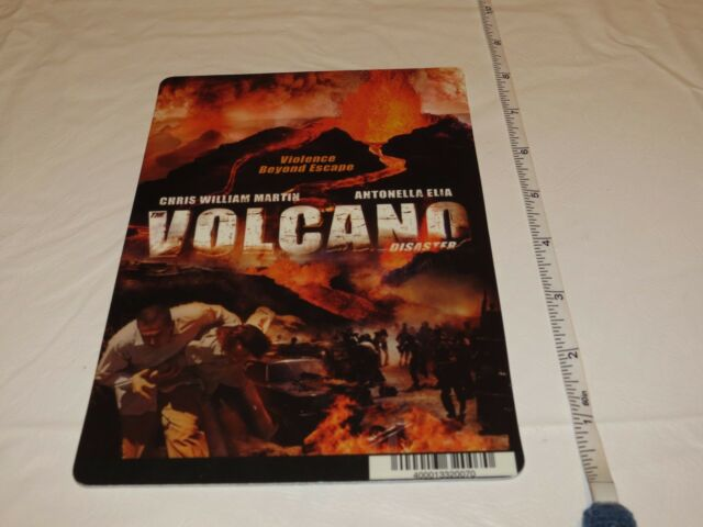 Volcano Disaster RARE movie mini POSTER collector backer card 8 x 5.5 Plastic