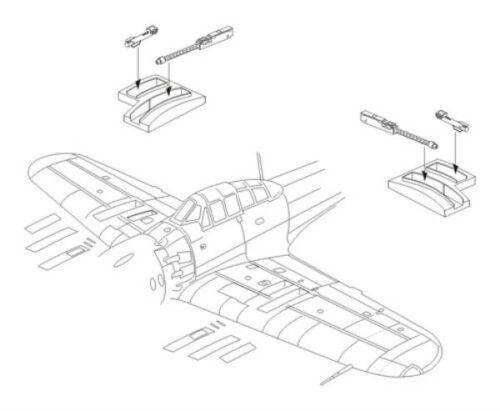 Armament set for Hasegawa Resin #7244 CMK 1:72 Mitsubishi A6M5c
