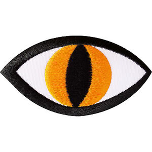 Monster Eye Embroidered Iron On Badge / Sew On Patch for Jeans Biker Jacket Bag