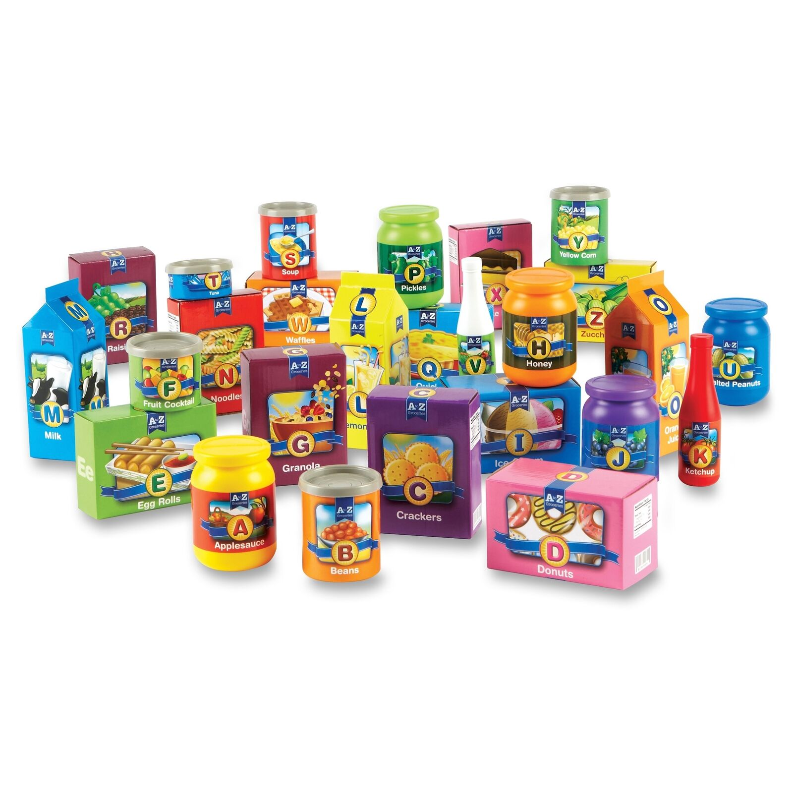 Learning Resources A-z Alphabet Groceries Activity Set - (lrn7729)