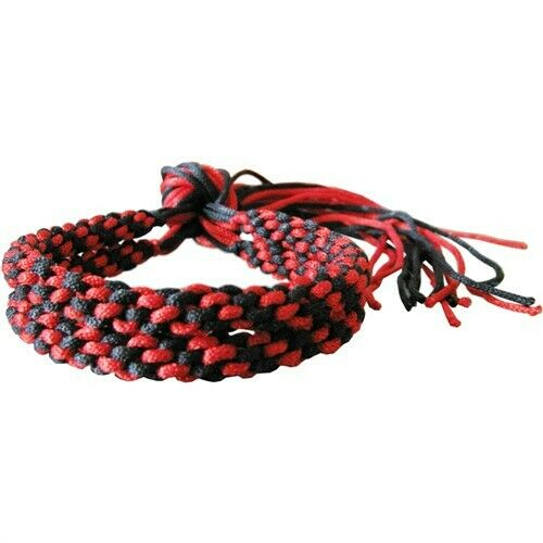 BLACK /& RED MUAY THAI KICKBOXING BOXERS TRADITIONAL ARM BANDS