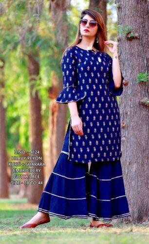 Indian Women Kurti Kurta Bottom Combo Set Ethnic Designer Salwaar Kameez Dress