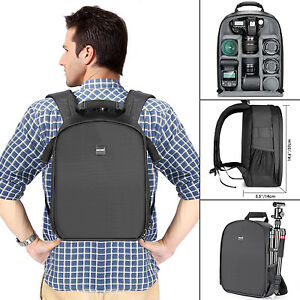 "Neewer Camera Backpack Waterproof Shockproof 11x6x14"" for DSLR-(Gray Interior)"