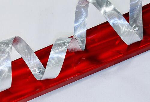 Modern Metal Wall Sculpture Abstract 3d Red//Silver Twist Wall Art Contemporary