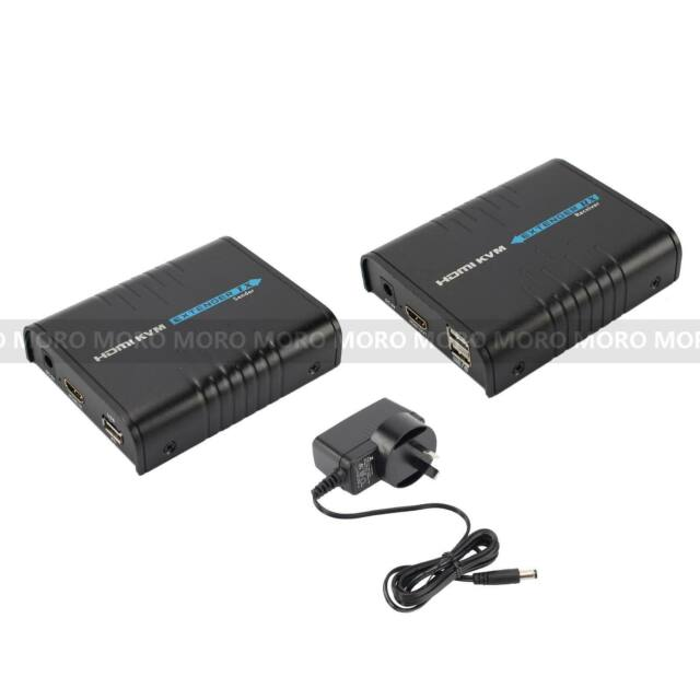 HDMI KVM Extender Receiver 120M via Cat5/5E/6 Network Support USB&Mouse Keyboard