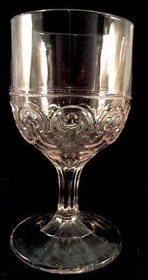 Aberdeen Goblet Clear Pattern Glass Unknown 1870s Key Hole Stemware Water Wine