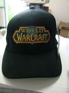 World of Warcraft Black Ball Cap Hat Small to Medium size Flex fit ... c2a1dd2b89d1