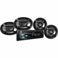 Pioneer Dxt-x4969bt Cd Player Bluetooth Receiver + 6.5 & 6x9 Speakers Package