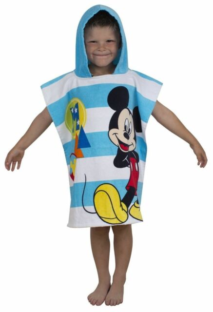 "Official Disney Mickey Mouse ""Star"" Character Hooded Towel Poncho"