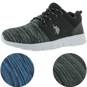 U.S. Polo Assn. Mens Stabelizer Blue, Grey Lace Up Shoes Multiple Sizes Athletic