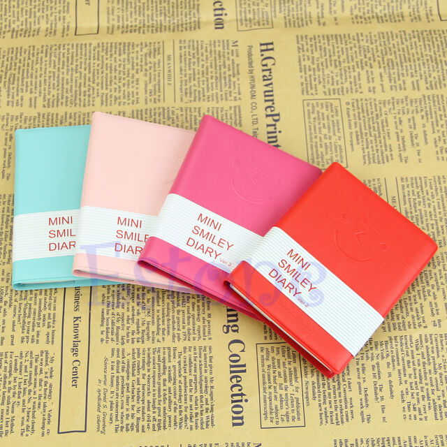 1Pc Mini Smile Memo Charming Cute Diary Notebook Portable Smiley Paper Note Book