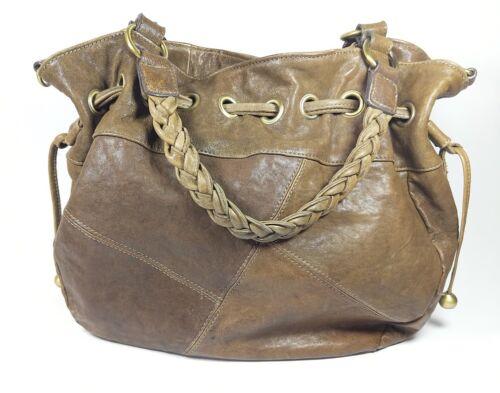 à x main en sac Grand 34 cm structuré non cm cuir 30 marron Bubo PB5wBqE