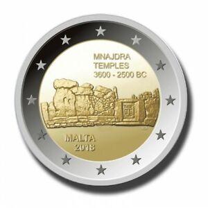 MALTA-Mnajdra-Temples-2-Euro-Commemorative-Coin-2018-Issue-UNC-RARE