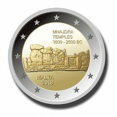 Temples of Mnajdra UNCIRCULATED MALTA 2 EURO 2018 Commemorative coin
