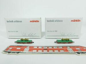 BC522-0-5-2x-Marklin-mini-club-Z-DC-Vagon-de-mercancia-Metal-Todo-Buena-1988-W