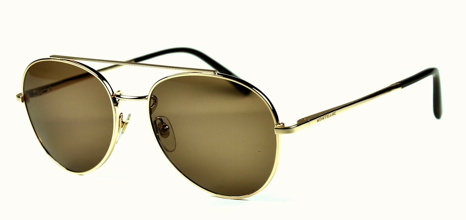 Montblanc MB 605S Sunglasses COL.28J Rose Gold / Brown lenses New