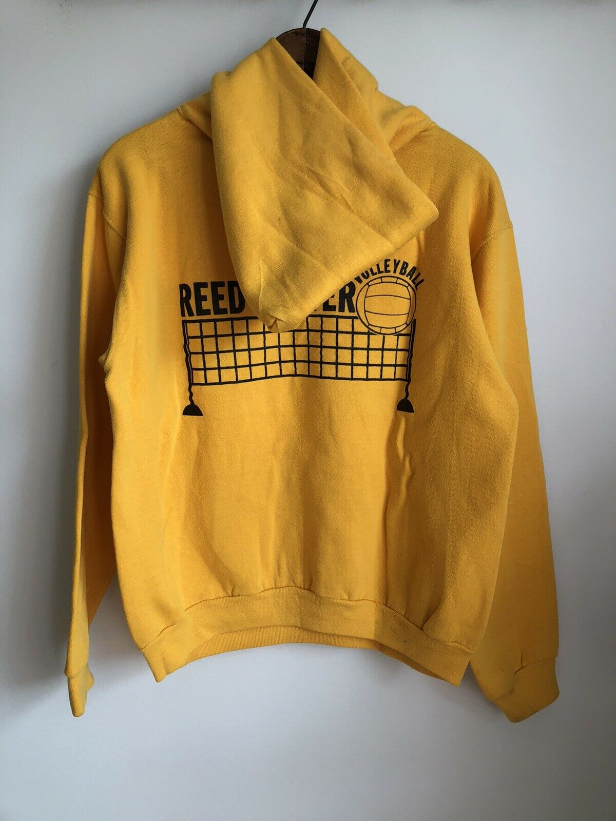 VTG 70s Russell Athletic Gold Yellow Hoodie Sweat… - image 7