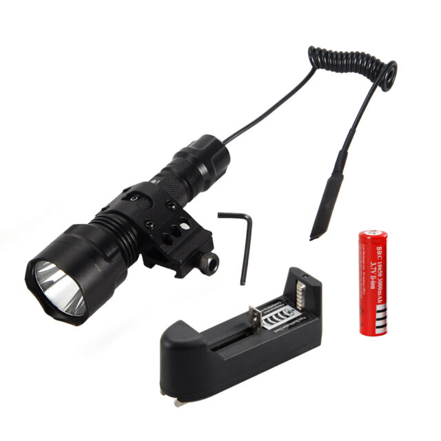 5000Lm XML T6 LED Tactical Flashlight Torch Shotgun/Rifle Picatinny Weaver Mount