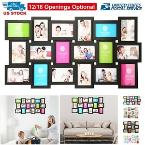 12/18 Multi Photos Picture Frame Collage Memories Wall Mount Display Home Decor
